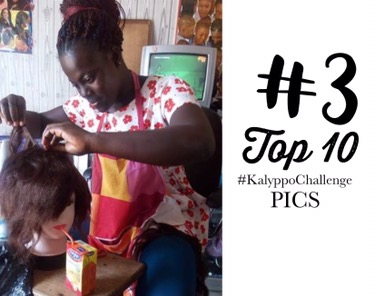 Kalyppo Challenge -  Manakin taking a sip of Kalyppo