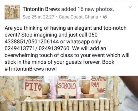 Tintontin Brews Marketing Post