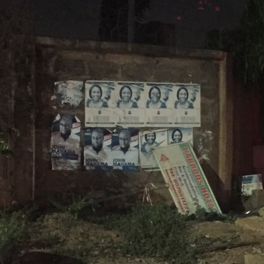 Election campaign poster on a wall in Ghana