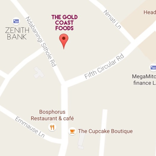 Google map screenshot of The Gold Coast Foods, Labone area